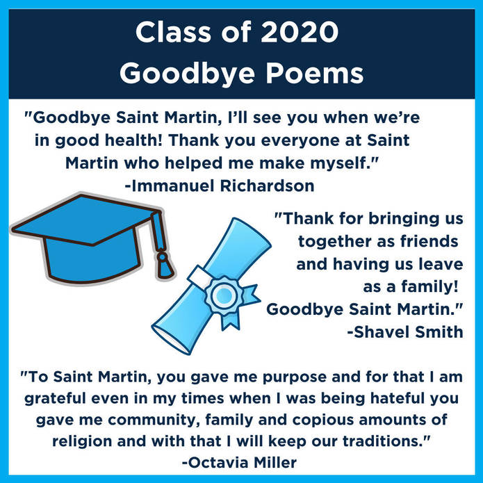 Goodbye Poems From The Class Of 2020 Saint Martin De Porres High School Cleveland Oh Poet's notes about the poem. goodbye poems from the class of 2020