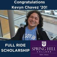 Kevyn Chavez '20 Receives Full Ride College Scholarship