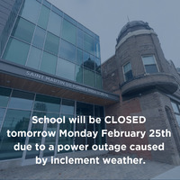 School Closed Monday February 25, 2019